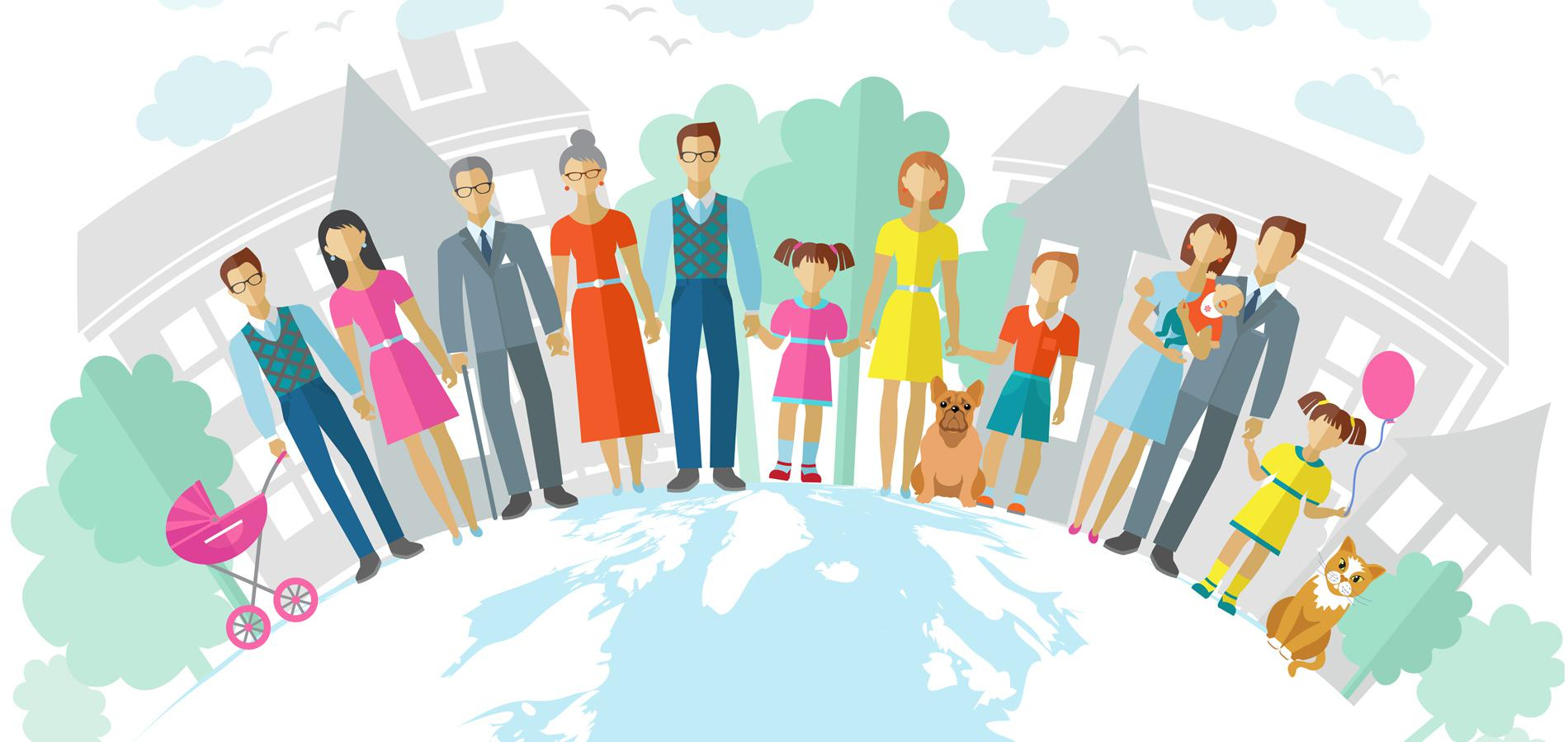 La famille en 2015 selon linsee